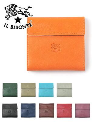 イルビゾンテ  IL BISONTE Giotto ジオットモデル 新色追加 小銭入れ付きコンパクトな二つ折り財布 ウォレット プレゼント メンズ レディース