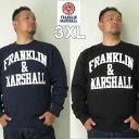 フランクリンマーシャル (本州四国九州送料無料)大きいサイズ メンズ FRANKLIN&MARSHALL(フランクリンアンドマーシャル)デカロゴ スウェットシャツ 3XL トレーナー