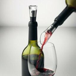 ポアラー MENU Vingon Wineset w. Decanting Pourer & Vacuum Stopper ヴィニョン ワインセット ディキャンティングポアラー&バキュームボトルストッパー 4651229 Dining キッチン雑貨 ワイングッズ エアレーション バキュームストッパー|