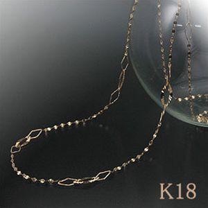 ペタルチェーン デザインネックレス 70cm K18Gold(ゴールド) K18WG(ホワイトゴールド) ロングネックレス/チェーンgold/k18/18金【送料無料】 10P03Dec16