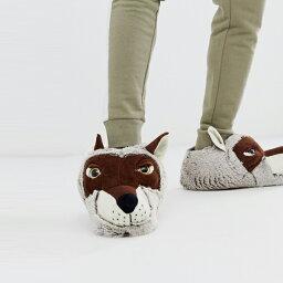 狼の足 ルームシューズ 靴 シューズ ASOSセレクト Loungeable asos ASOS エイソス メンズ Loungeables オオカミ スリッパ 大きいサイズ インポート エクストリームスーパースキニーフィット スウェットパンツ ジーンズ ジーパン 20代 30代 40代 ファッション コーディネート