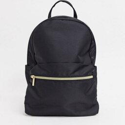 エイソス エイソス ASOS asos ASOS DESIGNシンプルなバックパック、フロントポケットはブラック 鞄 レディース 女性 インポートブランド
