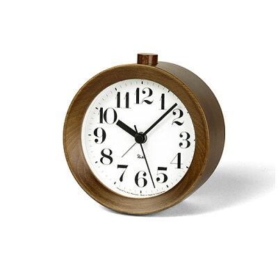 LEMNOS(レムノス)目覚まし時計置き時計渡辺力RIKIALARMCLOCKアラームクロックブラウンWR-09-15BW【P10】