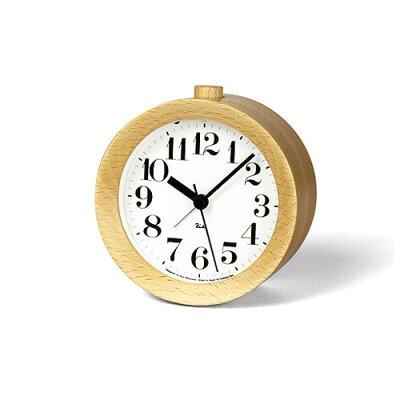 LEMNOS(レムノス)目覚まし時計置き時計渡辺力RIKIALARMCLOCKアラームクロックナチュラルWR-09-15NT【P10】