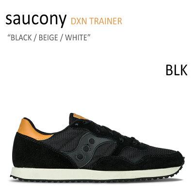 サッカニー スニーカー Saucony メンズ DXN TRAINER ディクソン トレイナー BLACK BEIGE WHITE ブラック ベージュ ホワイト S70124-50 シューズ