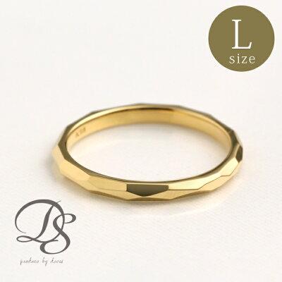 18金 リング レディース ピンキーリング 18k 指輪 メンズ ゴールド リング k18誕生日 ギフト プレゼント 贈り物 妻 彼女 ペアリング 結婚指輪0号 1号 2号 3号 4号 5号 カットデザイン(L) DEVAS ディーヴァス 【送料無料】