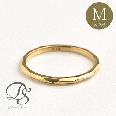 18金 リング レディース ピンキーリング 18k 指輪 レディース ゴールド リング K18誕生日 ギフト プレゼント 贈り物 妻 彼女 ペアリング 結婚指輪0号 1号 2号 3号 4号 5号 カットデザイン(M) 送料無料 DEVAS ディーヴァス