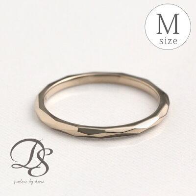 送料無料 ホワイトゴールド リング レディース ピンキーリング K18WG 18k指輪 レディース リング シンプル 上品 カットリング 誕生日 プレゼント ギフト 贈り物 彼女 ペアリング 結婚指輪 0号 1号 2号 3号 4号 5号 カットデザイン(M) DEVAS ディーヴァス
