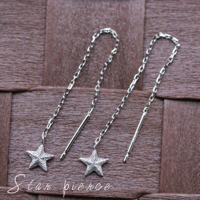 星ピアス☆かわいいスタージュエリーは毎日着け用 ホワイトゴールド アメリカンピアス ・ ゴールドピアス k18 18k 18金 ピアス DEVAS ディーヴァス レディース