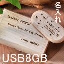 名入れUSBメモリー 名入れ プレゼント ギフト 木製NATURALケース付 USBメモリ オーバル