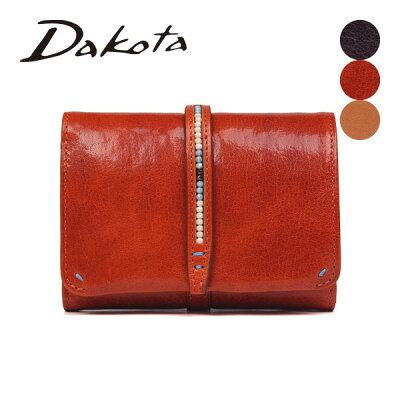 レディース 二つ折り財布 Dakota ダコタ ルクス イタリア製牛革 001-0036060 チェコビーズ