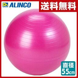 バランスボール アルインコ(ALINCO) エクササイズボール 55cm エアポンプ付 EXG124P ピンク バランスボール フィットネスボール ヨガボール 【送料無料】