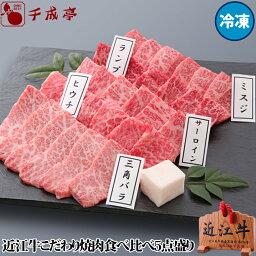 近江牛 【送料無料】近江牛こだわり焼肉食べ比べ5点盛り