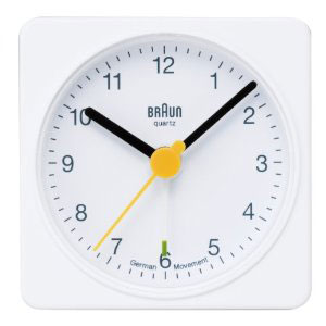 【海外正規品】 BRAUN ブラウン 目覚まし時計 アラームクロック BNC002WHWH