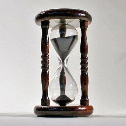 砂時計 誤差が少ない砂鉄を使用した「職人の手作り砂時計(2分計)」金子硝子