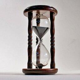 砂時計 誤差が少ない砂鉄を使用した「職人の手作り砂時計(3分計)」金子硝子
