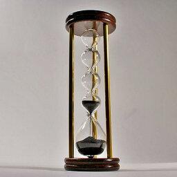 砂時計 誤差が少ない砂鉄を使用した「職人の手作り砂時計(3分計)フレンチサンドグラス」金子硝子