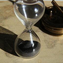 砂時計 誤差が少ない砂鉄を使用した「職人の手作り砂時計(3分計)スタイリッシュ(自立型)」金子硝子