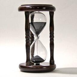 砂時計 誤差が少ない砂鉄を使用した「職人の手作り砂時計(5分計)」金子硝子