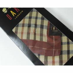 ダックス メンズ ハンカチ 箱入り DAKS(ダックス) チェック エンジ 日本製(48×48cm)