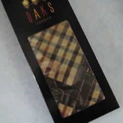 ダックス ハンカチ メンズ 箱入り DAKS(ダックス) チェック グリーン 日本製(48×48cm)