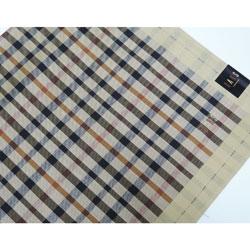 ダックス ハンカチ メンズ DAKS(ダックス) チェック ベージュ 日本製(48×48cm)