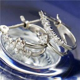 ダイヤモンド レビュー投稿で次回使える2000円クーポン全員にプレゼント 直送 Pt ダイヤモンドピアス エタニティピアス プラチナ ファッション ピアス・イヤリング 天然石 ダイヤモンド