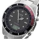 エルジン 腕時計(メンズ) 5000円以上送料無料 エルジン ELGIN ソーラー 電波 メンズ 腕時計 FK1400S-BRP ブラック/レッド 【腕時計 国内正規品】 レビュー投稿で次回使える2000円クーポン全員にプレゼント