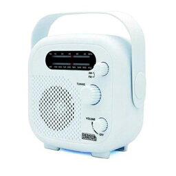 バスラジオのギフト 『送料無料』ヤザワ シャワーラジオ ホワイト FM/AM 防水ラジオ IPX5 SHR02WH