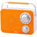 バスラジオのギフト 『72時間限定ポイント5倍』オーム電機 キッチン・シャワー防滴ラジオ IPX4 オレンジ RAD-T380N-D