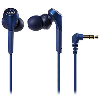 オーディオテクニカ ATH-CKS550X BL(ブルー) SOLID BASS インナーイヤーヘッドホン ハイレゾ対応