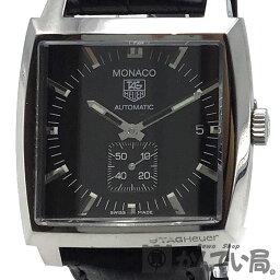 タグホイヤー モナコ 腕時計(メンズ) TAGHeuer(タグホイヤー) WW2110-0 モナコ キャリバー6 スモールセコンド スモセコ SS メンズ 腕時計【USED-B】