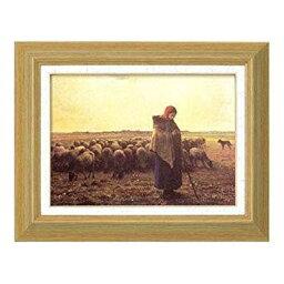 ミレー 手袋(メンズ) 太田アート ミレー名画額F4 1701340・羊飼いの少女 (1209al)【smtb-s】