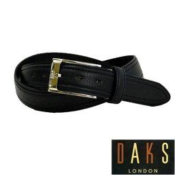 ダックス 【あす楽対応】DAKS ダックス メンズ ブラックレザーベルト【楽ギフ_包装】DB36450 3-75ベルト