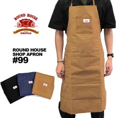 ROUND HOUSE ラウンドハウス 99 ショップエプロン メール便不可