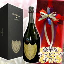 ドンペリニヨンのワインギフト オーガンジー(赤)ラッピング ドンペリニヨン (ドンペリ) 2008 750ML  化粧箱入正規輸入品