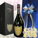 ドンペリニヨンのワインギフト オーガンジー(青)ラッピング ドンペリニヨン (ドンペリ) 2008 750ML  化粧箱入正規輸入品