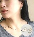 バイボー [BY BOE:ANNIKA INEZ/バイボー]CIRCULAR PENDULUM EARRINGS / ピアス 変形 ワイヤー フープ スタッズ プレート ワンポイント