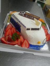 新幹線ケーキ 乗り物ケーキ6号サイズ(車、電車。新幹線)乗り物デコレーション  立体ケーキ 誕生日ケーキ バースデーケーキ お菓子工房アントレ