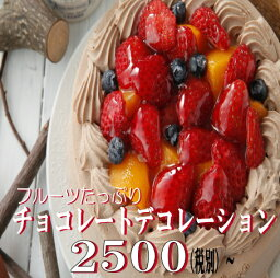 フルーツケーキ チョコレート誕生日ケーキ5号サイズ フルーツケーキ チョコレートケーキ いちごデコレーションケーキ バースデーギフト 父の日ギフト
