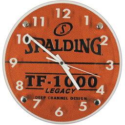 バスケットアクセサリー スポルディング(SPALDING) ウォールクロック 10-001WC ブラウン 【バスケットボール アクセサリー 時計】