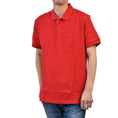 バーバリー ポロシャツ BURBERRY 8003122 レッド カジュアル ゴルフ 父の日 メンズ