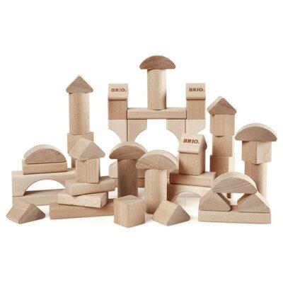 【 ★ ポイント10倍 ★ 】BRIO ブリオ つみき 50ピース〜BRIOの赤ちゃんの木のおもちゃシリーズ。7種類の白木の積み木50ピースセット。積み木遊びは集中力、創造力、注意力、表現力を養います。
