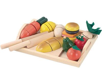 Ed.inter エドインター ままごといっぱいセット〜エドインターの木製おままごとセットです。大きめお野菜だから、小さい子でも持ちやすい!
