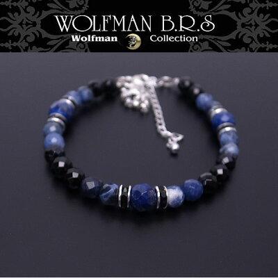 ウルフマン BRS WOLFMAN B.R.S ウルフマン ブレスレット 天然石 HOーBRー100【送料無料でお届け】