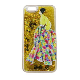 バービー iphone ケース 送料無料 iPhone 6s / iphone6 バービー ケース Barbie Glitter print ハードケース イエロー LP-BI6SHGSYE /在庫あり/ アイフォン シックスエス
