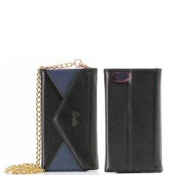 バービー iphone ケース iPhone7 ケース バービー Barbie Design ショルダーチェーン 手帳型 ブラック LP-BI7LBK /在庫あり/ 送料無料 アイフォン7 カバー アイフォーン スマホケース スマートフォンケース おしゃれ