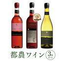 ワイン飲み比べセット 【ふるさと納税】「ロゼ・赤・白」飲み比べエステート3本セット(都農ワイン)