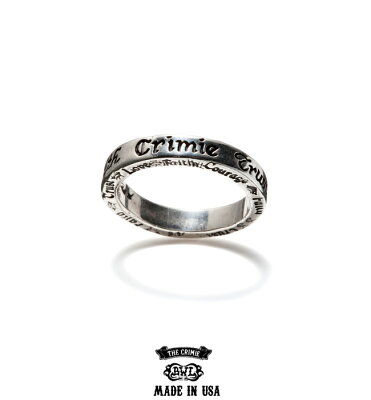 """【CRIMIE】クライミー(CRIMIExBILL WALL LETHER)クライミー×ビルウォール レザー/ """"BW THIN STAMPED RING"""" リング (SILVER925)"""