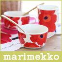 マリメッコ ( marimekko ) UNIKKO BOWL ウニッコ ボウル 250ml / ホワイト・レッド .